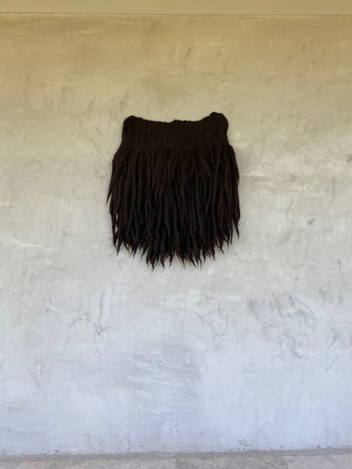 Wall Hangings by Taiana Giefer seen at Private Residence, Santa Barbara - Seed No.022: Sanglier