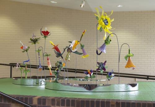 Public Sculptures by April Wagner, epiphany studios seen at Flint Institute of Music, Flint - Le Jardin Pour Les Enfants