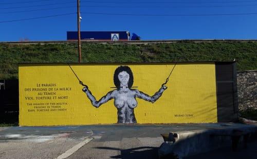 Street Murals by Murad Subay seen at Cité des Arts de la Rue, Marseille - Militia Paradise