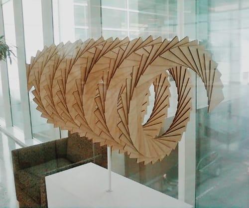 Public Sculptures by Susannah Mira seen at George Bush Intercontinental Airport, Houston - Spiral