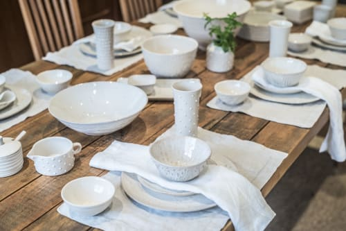 Tableware by Dotti Potts seen at Private Residence, Barrie - Dotti Potts Ivory & Oatmeal Tableware Collection