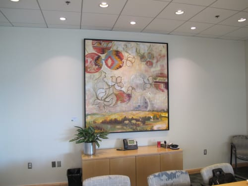 Paintings by Nedret Andre seen at Martignetti Companies, Taunton - Harvest