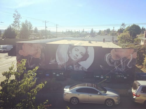 Street Murals by Cheyenne Randall aka INDIANGIVER seen at Slave to the Needle Tattoo & Body Piercing, Seattle - Liz Taylor