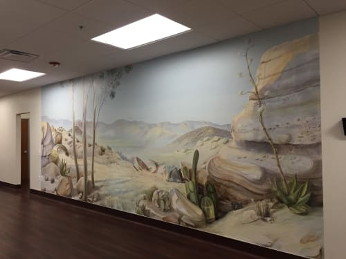 Murals by Very Fine Mural Art - Stefanie Schuessler seen at Antelope Valley Cancer Center - Mukund Shah MD, Palmdale - 'A Walk Trough California's Landscapes', Indoor Mural