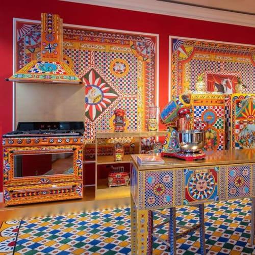 Interior Design by Fyber seen at Dolce&Gabbana, London - Mediterranean floor design by Radici