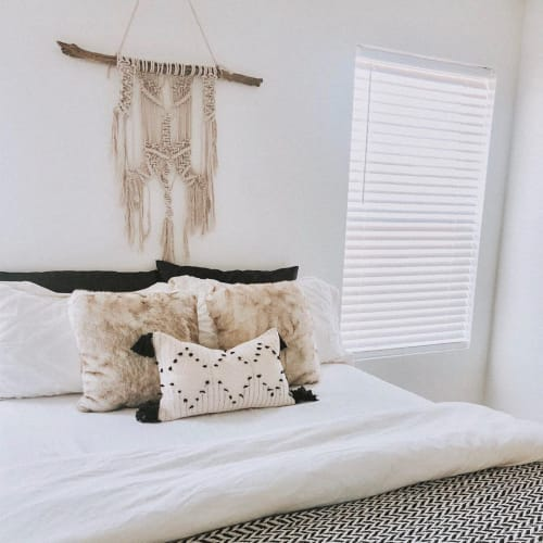 Pillows by Busa Designs LLC seen at Private Residence, Miami - Moroccan Beige Lumbar Pillow Cover