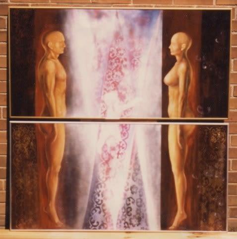 Paintings by Tibor Hargitai Art seen at Private Residence, Niagara-on-the-Lake - The Creation 1995