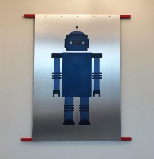 "Art & Wall Decor by ANTLRE - Hannah Sitzer seen at Google RWC SEA6, Redwood City - ""Robots"""