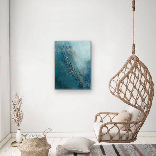 Paintings by Margaret Alice Høiesen seen at Private Residence, Tananger Norway, Tananger - Peace. SOLD