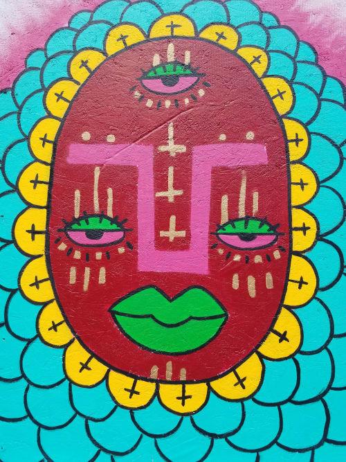 "Street Murals by Natalia Virafuentes seen at Renaissance Chicago Downtown Hotel, Chicago - ""Black Love, Brown Pride"""