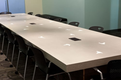 Tables by Concreteworks seen at Twitter, San Francisco - Conference Tables
