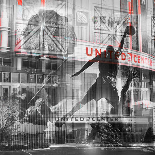 Photography by Madcanvases seen at United Center, Chicago - United Center
