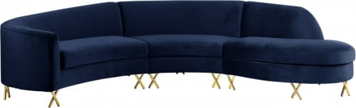 Couches & Sofas by Meridian Furniture seen at Soma Grand, San Francisco - Serpentine Velvet 3pc. Sectional