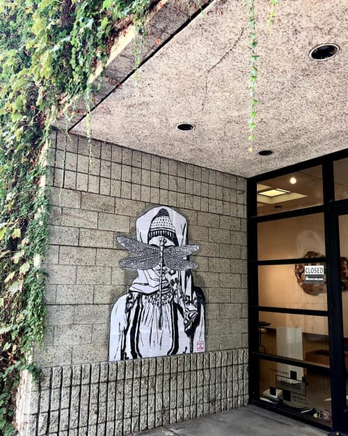 Murals by Made of Hagop seen at Cal Poly Pomona, Pomona - Behind the Cloud