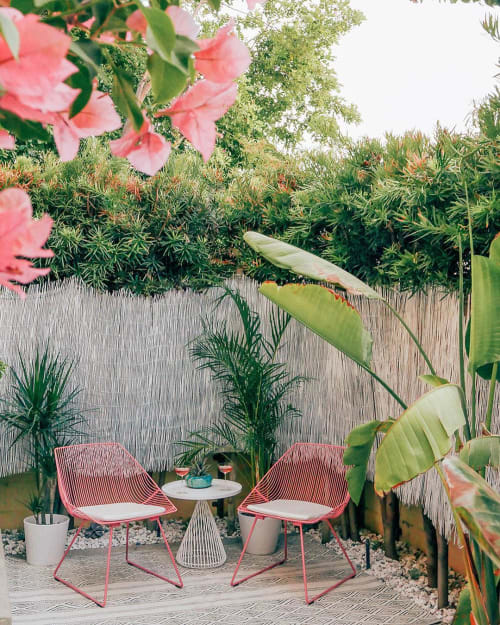 Chairs by Bend Goods seen at Private Residence, Los Angeles - Bunny Lounge - Grapefruit