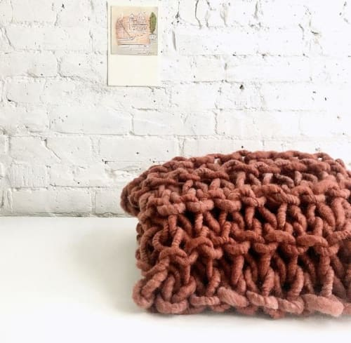 Jumbo Arm Knit Blanket Throw DIY KIT   Linens & Bedding by Flax & Twine