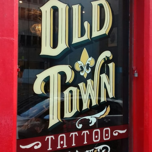 Signage by Journeyman Signs (TATCH) seen at Old Town Tattoo, Edinburgh - Old Town Tattoo Signage