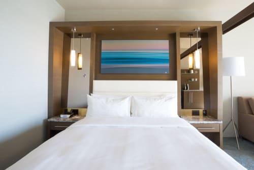 Photography by Brent Broza seen at Shade Hotel, Redondo Beach - Pink Sunrise