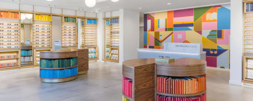 Murals by Muzae Sesay seen at Warby Parker Sacramento, Sacramento - Warby Parker's Mural