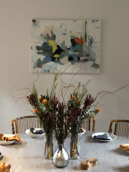 Paintings by Annie King seen at Private Residence, Atlanta - For Happy Meals and Zebra Chairs