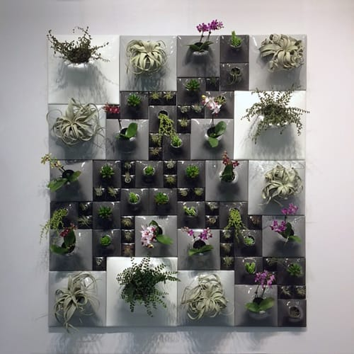"Plants & Landscape by Pandemic Design Studio seen at Private Residence, New York - The Node Collection - Gradient Wall - 54"" x 63"""
