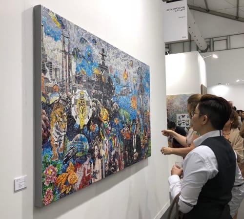 Paintings by Ye Hongxing seen at Art Central - Ocean NO.1