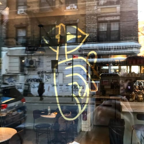 Paintings by Very Fine Signs seen at Shoo Shoo, New York - Gold Leaf