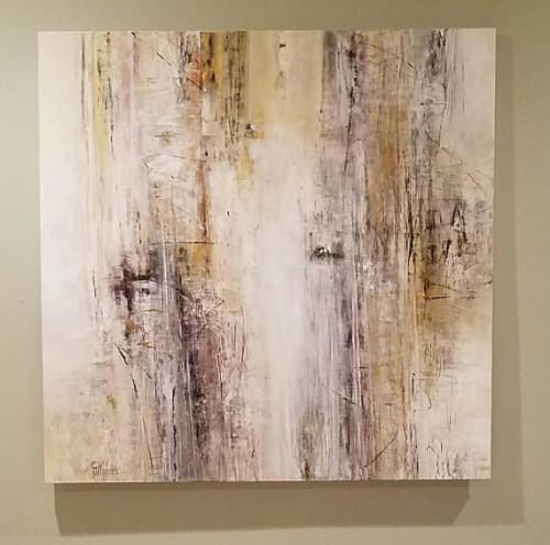 Paintings by Judy Mintze Original Artwork seen at Private Residence - Sold Abstract Artwork