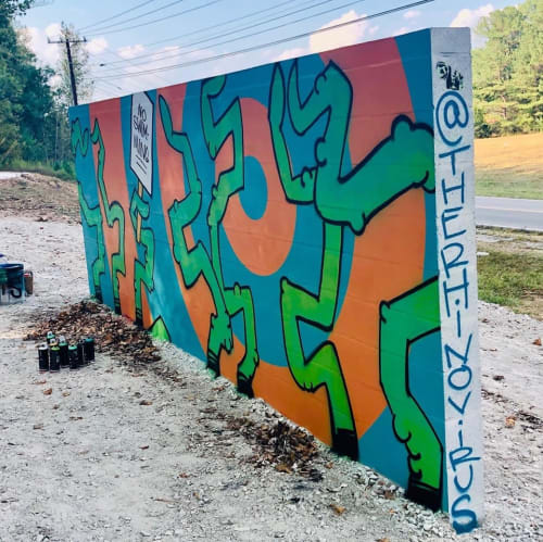 Outdoor Tentacle Mural   Street Murals by Ryan Frizzell (The Rhinovirus)