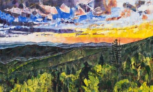 Paintings by Kent Paulette seen at Studio 140 at Sorrento's Art Gallery, Banner Elk - Blue Ridge Mountains Painting