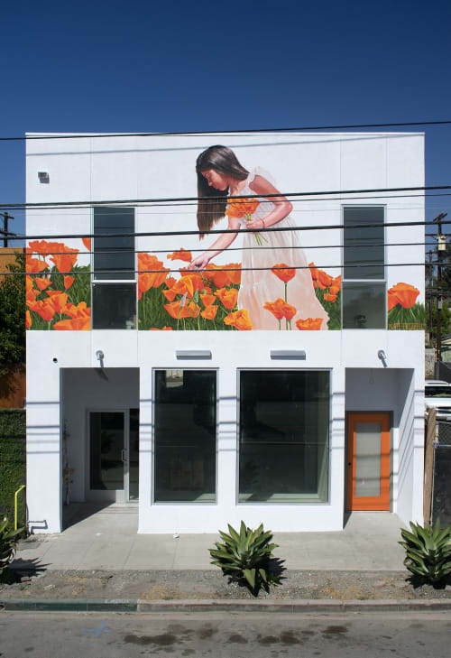Murals by Nate Frizzell seen at 5569 W Adams Blvd, Los Angeles - Lia