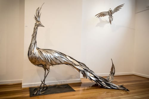 Sculptures by Georgie Seccull seen at Mistere Spa and Retreat, Urliup - She Who Must Be Obeyed