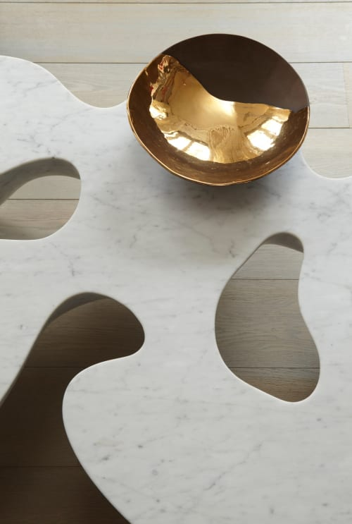 Tables by Babled Design seen at Paris Apartment, Paris - Quark Marble