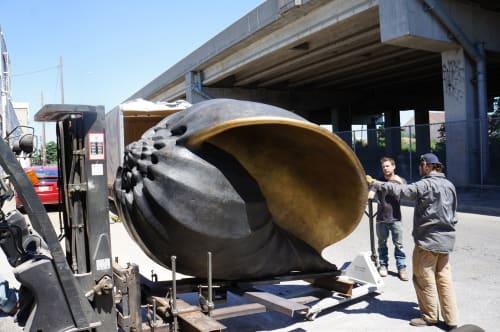 Public Sculptures by Joshua Koffman at Westfield UTC, San Diego - Radix