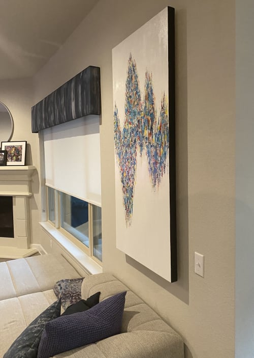 Paintings by Dawn Winter: Contemporary Abstract Paintings, LLC seen at Private Residence, Austin - Commissioned Original Abstract Painting