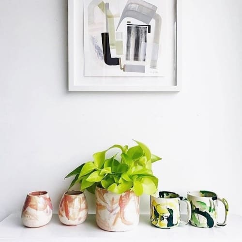 Vases & Vessels by btw Ceramics seen at Private Residence, Los Angeles - Blush and Julep Wackies