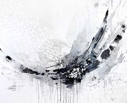 """Paintings by Kristen Elizabeth Art seen at Private Residence, New York - """"Breath"""" Painting"""
