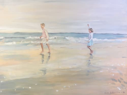 Paintings by Katie Ré Scheidt seen at Private Residence, Greenwich - Portrait