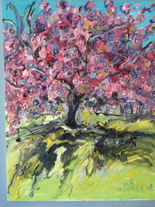 Paintings by chriskappmeierstudio seen at Branch Brook Park, Newark - Magnificent Cherry Blossoms and Trees
