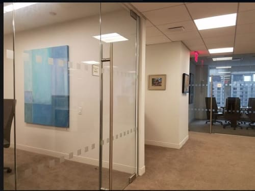 """Paintings by Benna Holden seen at Chaffetz Lindsey, New York - """"Linear Painting 2"""""""