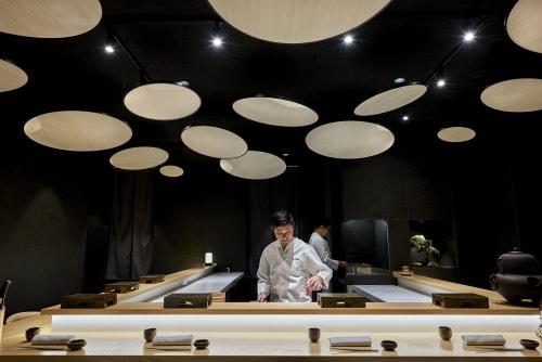 Interior Design by MIKIYA KOBAYASHI & IMPLEMENTS seen at Valencia, Spain, Valencia - KAIDO SUSHI BAR