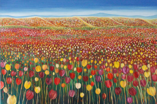 Paintings by Corinne Young's Art seen at Private Residence, Adelaide - Spring Fling