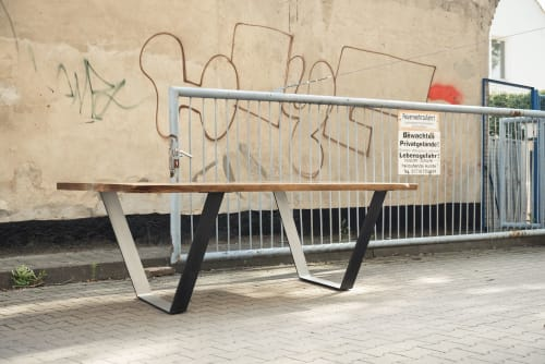 "Tables by Berlin Moebel Design seen at Chemnitzer Str. 11, Berlin - Dining Table ""Okota"""