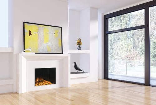 Fireplaces by Electric Modern seen at Private Residence, Middleton - E32 H: Single-Sided Electric Fireplace