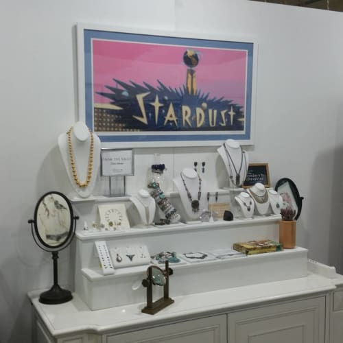 """Paintings by Jerry Misko seen at The Jeweler's Daughter, Las Vegas - """"Stardust"""""""