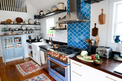 Furniture by Carter Mitchell Woodworking seen at Fare Isle's (Kaity's) Kitchen, Nantucket - Kitchen Counter with Drawers
