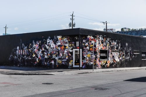 Murals by Kent Youngstrom - acrylic on paper and brick