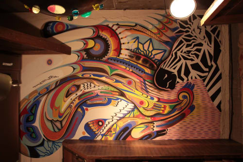 Murals by Doppel seen at hug coffee 両替町店, Shizuoka - Indoor Mural