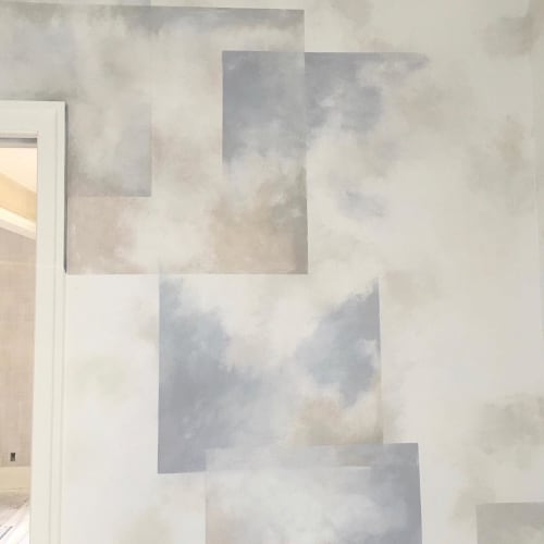 Wall Treatments by Caroline Lizarraga seen at Private Residence, San Francisco - Layered Wall Treatment