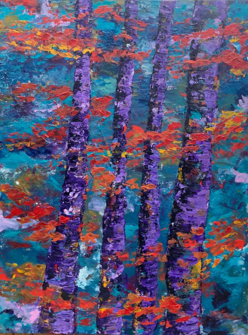 Paintings by Mireille Laroche seen at Creator's Studio, Ottawa - I Left Everything Behind Me